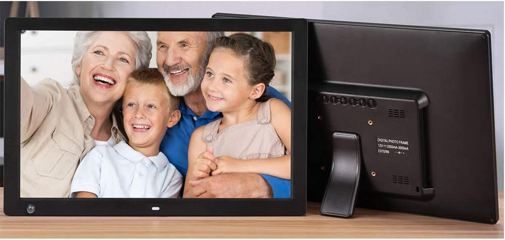 TONGTONG 17 Inch 1440X900 Widescreen Suspensibility Digital Photo Frame with Holder /& Remote Control,Black