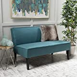 Christopher Knight Home Charlotte Dark Teal Fabric Love Seat