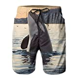 Men Fashion Swim Trunks Killer Whale Orca Whale