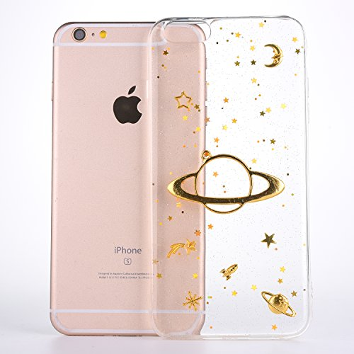 (for iPhone 7 iPhone 8 Cute Case Cover, CrazyLemon Varnish Soft TPU Silicone Gel Rubber Skin Clear 3D Bling Glitter Embossing Design Slim Shockproof Case for iPhone 7 iPhone 8 4.7