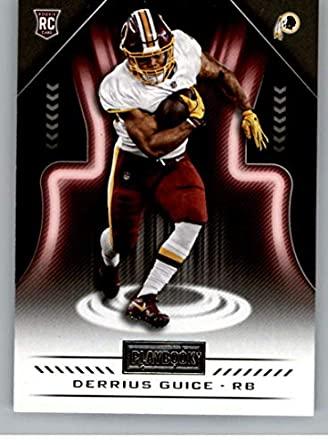 2018 Playbook Football  140 Derrius Guice RC Rookie Card Washington Redskins  Rookie Official NFL Card fa8a2de70