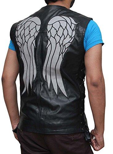 Walking Dead Costumes Ebay (Real Leather Black Costume Vest XL)