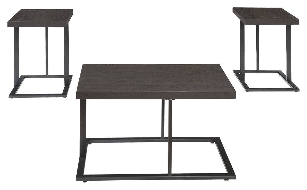 Ashley Furniture Signature Design - Airdon Contemporary 3-Piece Table Set - Includes Coffee Table & 2 End Tables - Bronze Finish