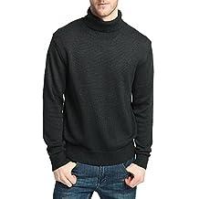 CHAUDER Men's Merino Wool Blend Relax Fit Turtle Neck Sweater Pullover