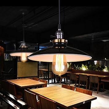 Dngdom Retro Luz Colgante de Vintage Industrial Lámpara de Techo para Corredor Porche Sala Comedor Cocina Dormitorio Estudio Balcón [Clase de ...