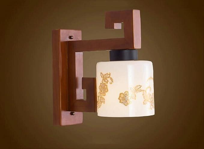 Rxl moderna nuova lampada da parete in legno massello in stile