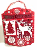 Red Merry Christmas Dec 25th North Pole Wall Decoration