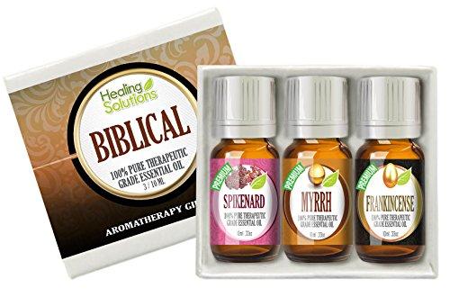 Biblical Solutions - Biblical Set 100% Pure Therapeutic Grade Aromatherapy Essential Oil Gift: Myrrh Frankincense Spikenard