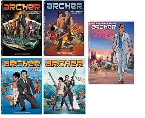 Archer Complete Series Seasons 1-5 Set (Archer Tv Series Dvd)