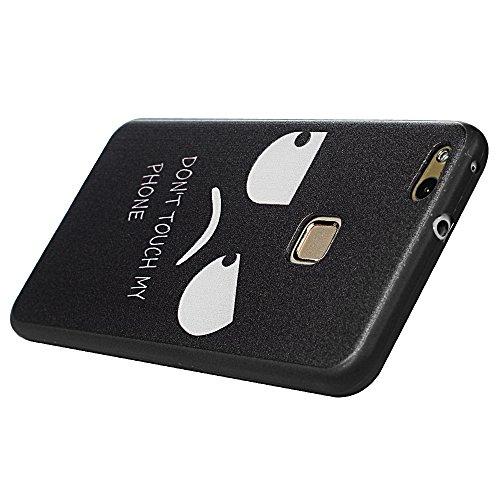 Tophung Huawei P10Lite Fall Silikon, weich flexibel robustem Silikon TPU Bumper kratzfest Stoßdämpfung stoßfest Schutzhülle für Huawei P10Lite 2017 violettfarbener schmetterling Unhappy