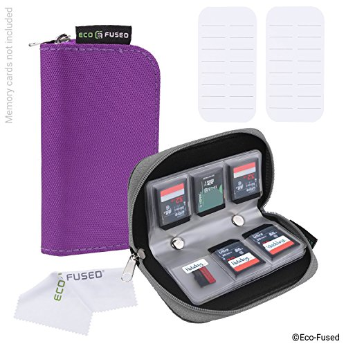 Memory Card Case - 2 Pack - Fits up to 44x SD, SDHC, Micro