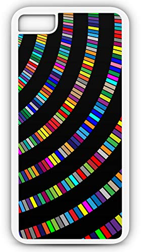 iPhone 8 Plus 8+ Case Swinging Arch Color Pallet Customizable by TYD Designs in White Plastic Black Rubber Tough -