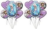 Disney Frozen Birthday Balloon Bouquet - 10 Pieces