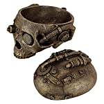 Design Toscano Steampunk Skull Containment Vessel Sculpture 8