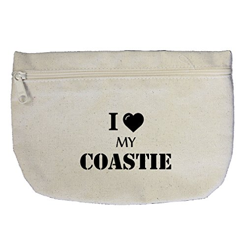 I Love My Coastie #1 Canvas Makeup Bag Zippered Pouch