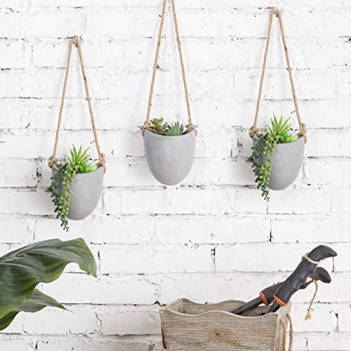 Rustic clay wall-hanging planters