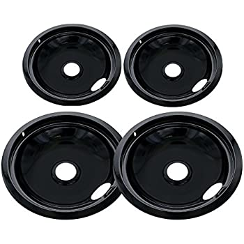 Amazon Com Chrome Drip Pan Set Replacement For Frigidaire