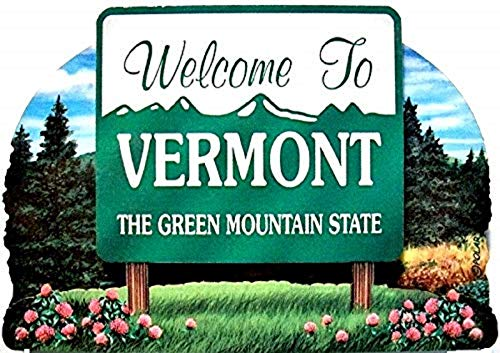 (Vermont State Welcome Sign Wood Fridge Magnet 2)