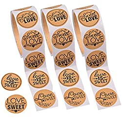 Love is Sweet Stickers for Candy Buffet, Wedding, Thank You Cards, Scrapbook