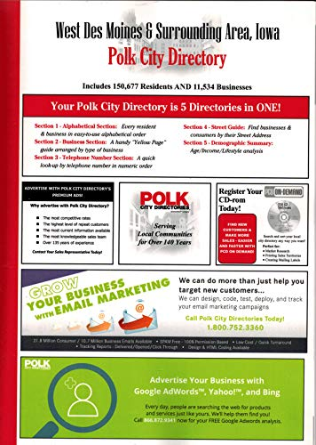 Polk City Directory, West Des Moines & Surrounding Area, Iowa, 2018, 2 Volume Set]()