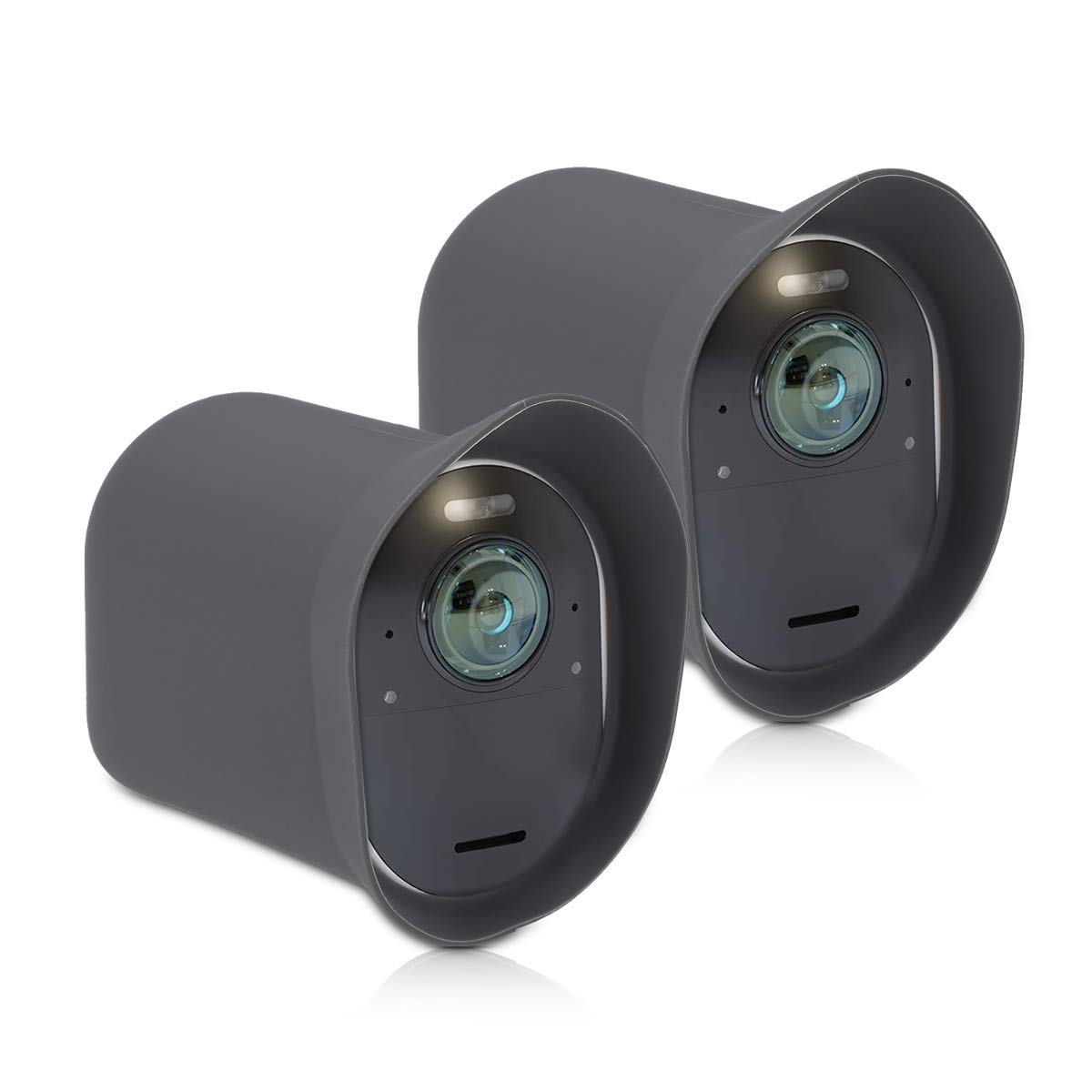 kwmobile 2x Skin for Arlo Ultra Black Silicone Security Camera Case Outdoor CCTV Protective Cover