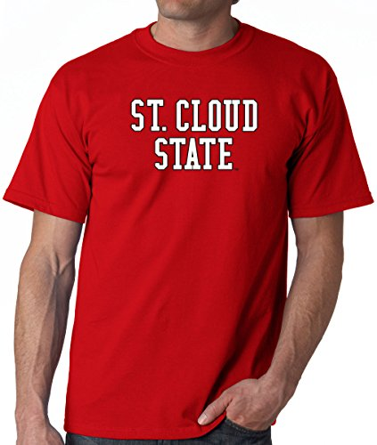 J2 Sport St. Cloud State Huskies NCAA Block Unisex Red T-Shirt