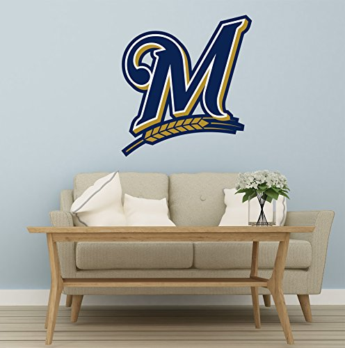 Baseball team logo - Wall Decal Vinyl Sticker for Home Interior Decoration Bedroom, Window, Mirror, Car (46