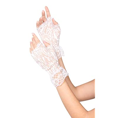 amscan White Lace Fingerless Gloves: Toys & Games