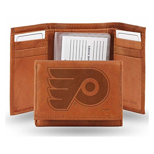 NHL Flyers Phil. Lthr/Manmade Trifold Sports Fan Wallets, Multicolor, One Size (Rico Leather Philadelphia Flyers Wallet)