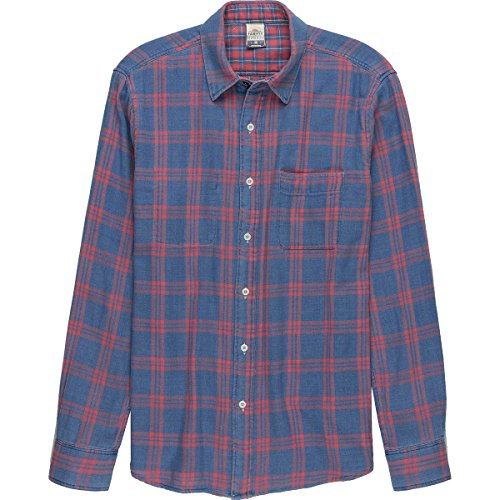 Faherty Reversible Belmar Shirt - Men's Indigo Red Plaid, XL