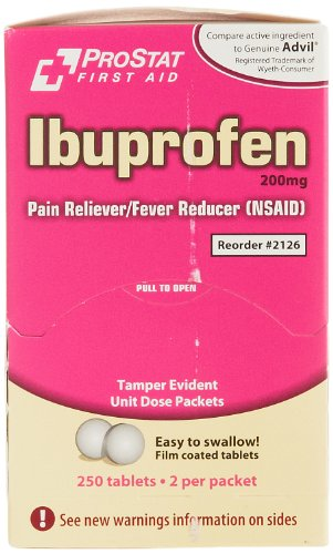 Medique 2126 Ibuprofen Tablet, 200mg (Pack of 250)
