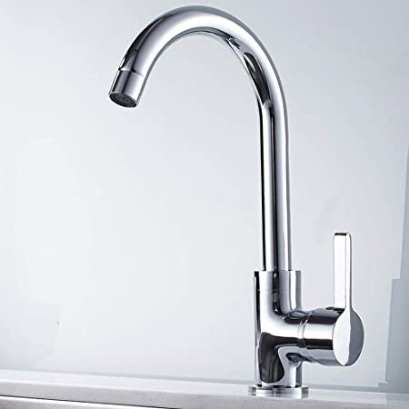 Alaine Modern Simple Kitchen Sink Taps Basin Mixer Tap Single Lever Swivel Spary Kitchen Bath Tap with 2 Flexible Hoses