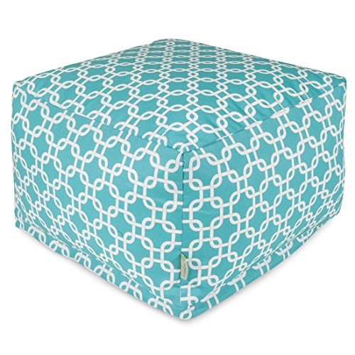 Majestic Home Goods Links Ottoman, Large, Teal