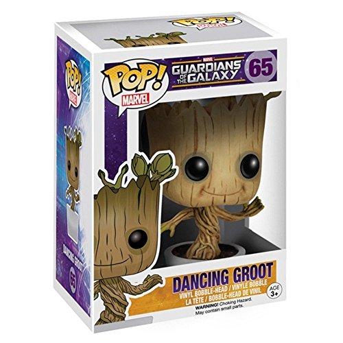 2X Funko POP! Marvel: Dancing Groot Bobble Action Figure