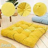 HIGOGOGO Floor Pillow, Square Meditation Pillow for