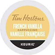 Tim Hortons French Vanilla Cappuccino, Single Serve Keurig K-Cup Pods, 10 Count