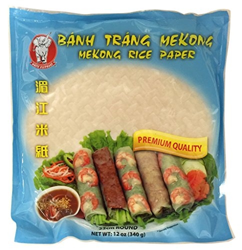 Banh Trang Mekong premium Vietnamese Spring Roll Rice Wrapper (22cm) 12 oz x3 pk