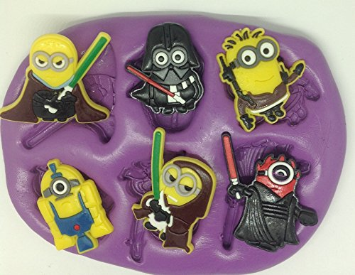 Star wars minions silicone mould / mold. lego Disney characters. topper. cupcake. r2d2. c3po. for $<!--$9.60-->