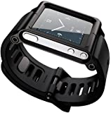 Ocr TM Cool Alumium Watch Band Wrist Strip for iPod Nano 6G Cover Case (Black)