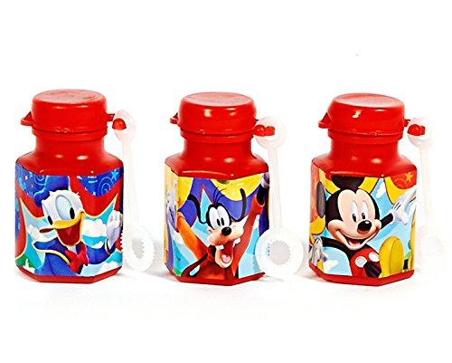 12-Piece Mickey Non-Toxic Bubble Solution, (Minnie Mouse Birthday Treats)