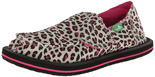 Sanuk Kids I'm Game Slip-On (Toddler/Little Kid/Big Kid),Black/Fuchsia Cheetah,11 M US Toddler (Footwear Fuchsia Toddler Canvas)