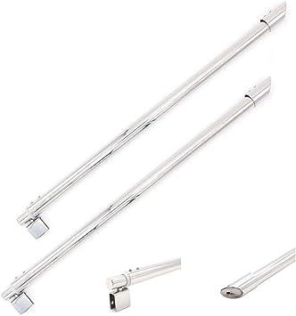 NUZAMAS - Juego de 2 barras telescópicas para mampara de ducha ...