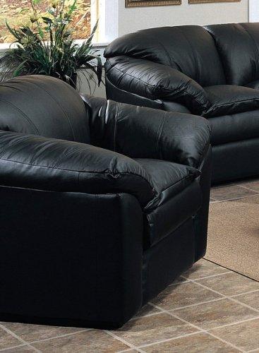 Phenomenal Amazon Com Avalon Top Grain Leather Black Color Sofa Chair Dailytribune Chair Design For Home Dailytribuneorg