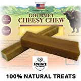 Advance Pet Products Long Lasting 100% Natural and Organic Gourmet Himalayan Yak Cheese Cheesy Chews Dog Treats Healthy Dog Chew (X-Large)
