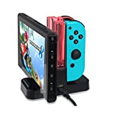 Drone Fans Switch Controller Charger Dock for Nintendo Switch, Joy-Cons Parallel Charging Dock Station with LED indication