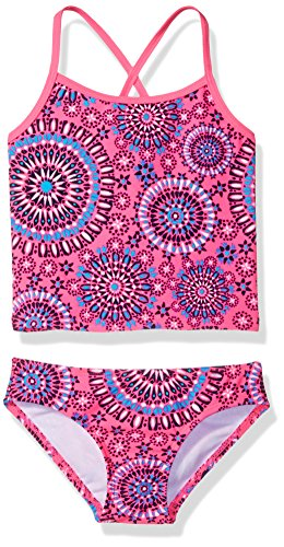 Girls Piece Toddler 2 Tankini (Kanu Surf Girls' Toddler Melanie Tankini Swimsuit, Pink, 4T)