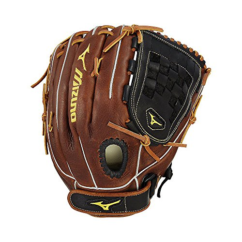 Mizuno Classic Fast-Pitch Series GCF1300F2 Outfield/Pitcher Model Gloves, Black/Brown