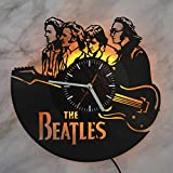 The Beatles Liverpool Four Night Light Wall Lights Vinyl Record Wall Clock The Best Home Interior Idea Living Room Design Vinyl Light Perfect Gift Idea for Rock Music Lovers Unique Gift
