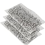 ARKSEN 1500pc #0 Stainless Grommet & Washer Eyelets 1/4'', Replacement, DIY