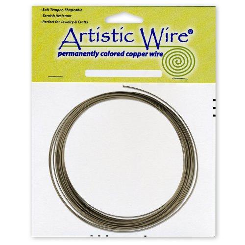 Artistic Wire 16-Gauge Wire, Antique Brass, 25-Feet